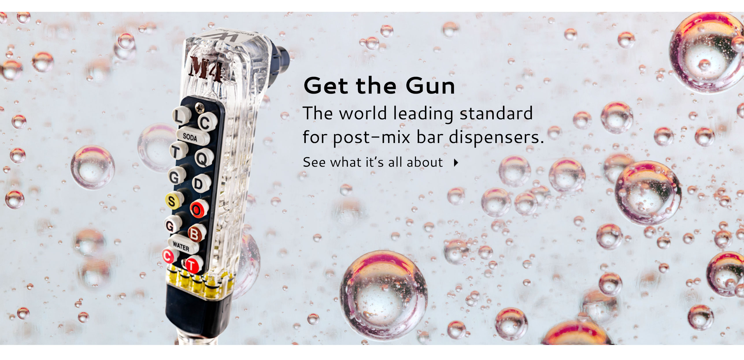 Bargun The world leading standard for post-mix bar dispensers.