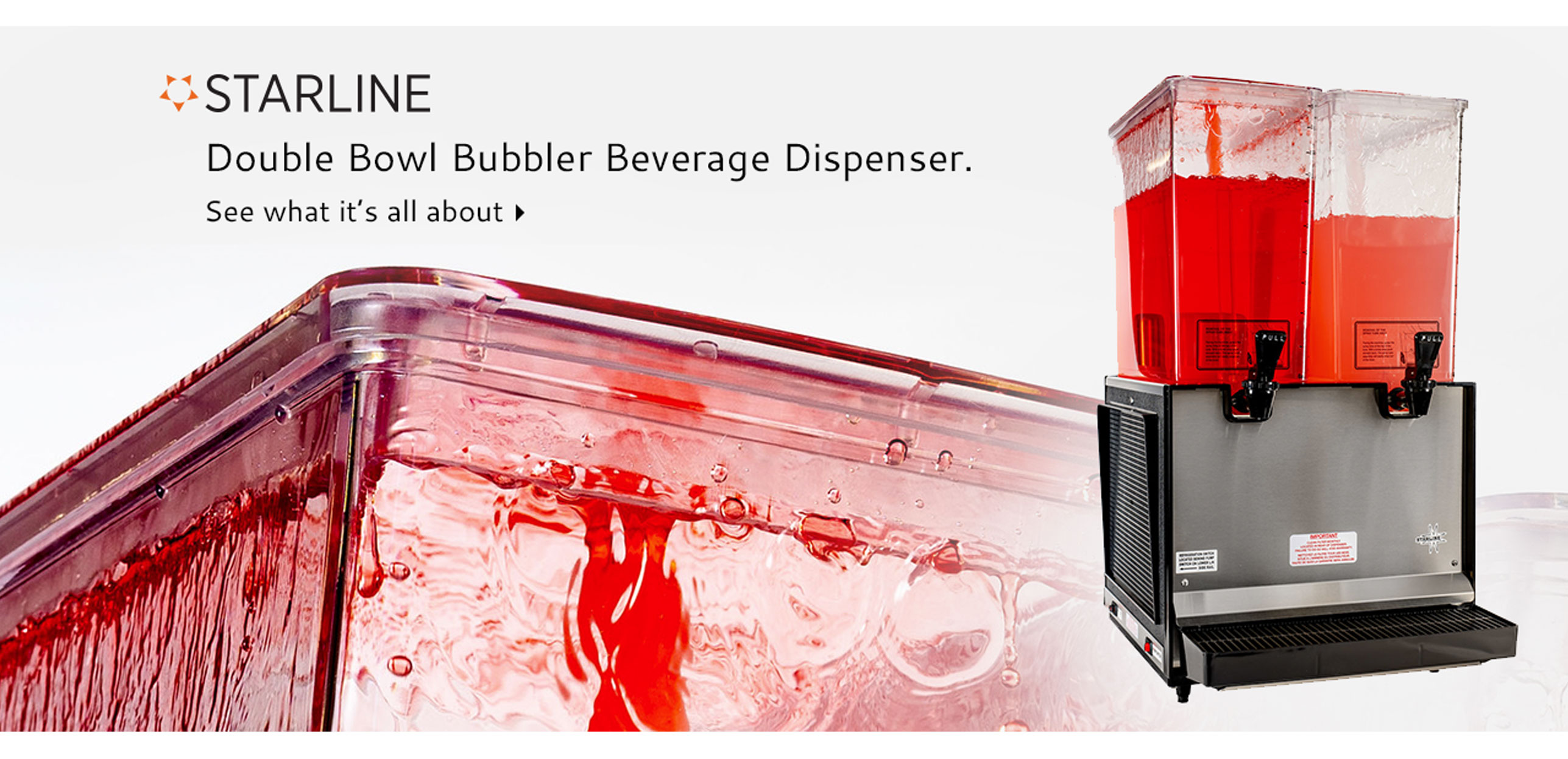 Starline S2 Double Bowl Bubbler Beverage Dispenser