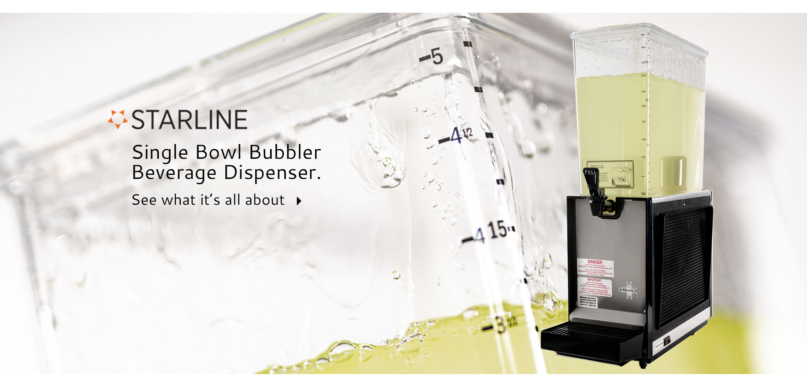 Starline S1 Double Bowl Bubbler Beverage Dispenser